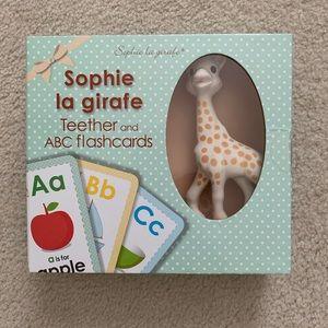 Sofia the giraffe + flash cards